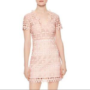 Sandro Pink Manureva Short Sleeve Lace Dress Sz 3